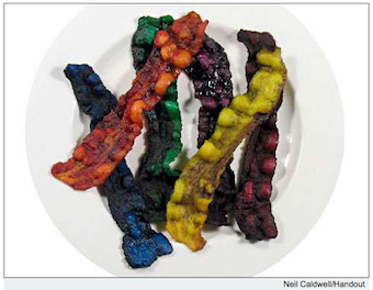 Illustration for article titled Rainbow Bacon Actually Exists