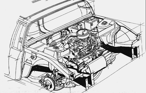 pontiac fiero the definitive history  fiero engine diagram #11