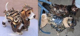 Illustration for article titled Send Fido Into Mordor with Confidence in Ancient Doggy Armor