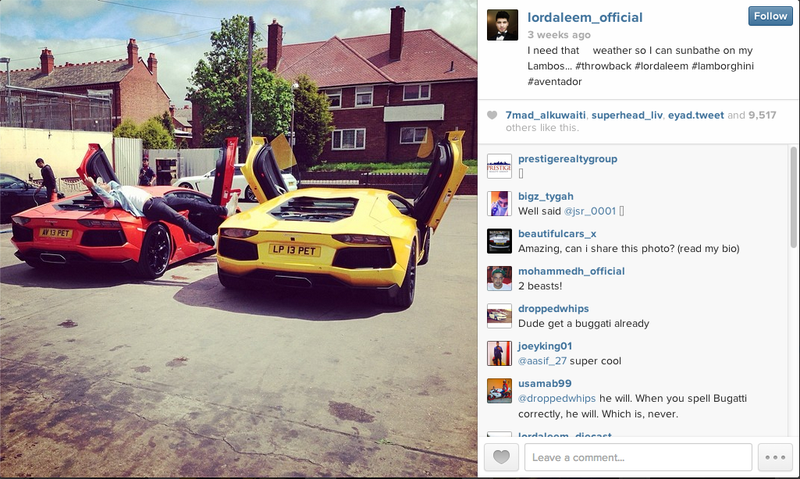 Illustration for article titled Arsonists Keep Torching This 'Rich Kid Of Instagram's' Exotic Cars