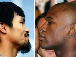 Manny Pacquiao, Floyd Mayweather Jr. (AFP/Getty Images)