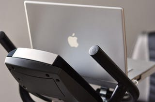 Mount Your Laptop On Exercise Bike Or Elliptical Machine With This Rock Solid Build
