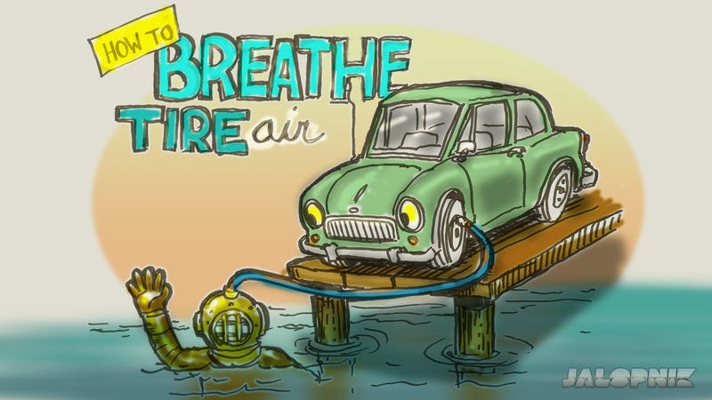 Illustration for article titled How To Breathe Out Of A Tire And Prove Mythbusters Wrong