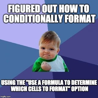 Illustration for article titled Conditional Formatting 201: Formulas