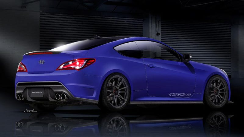 hyundai genesis coupe cosworth is our kind of tuner car