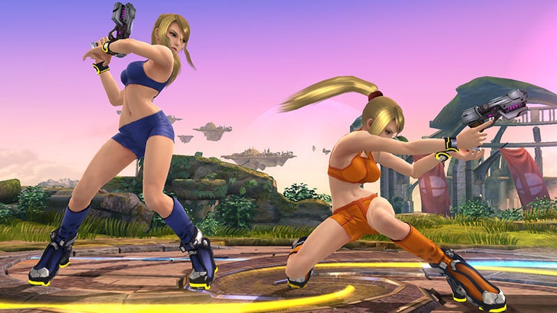 Illustration for article titled Samus Wears Even Less Than A Zero Suit In Super Smash Bros