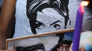 A T-shirt seen at a candlelight vigil for pop music icon Prince on April 21, 2016, at Leimert Park in Los Angeles.ROBYN BECK/AFP/Getty Images