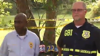 Authorities from the Georgia Bureau of Investigation give a press conference May 11, 2015, about the hanging of Roosevelt Champion III.YouTube Screenshot