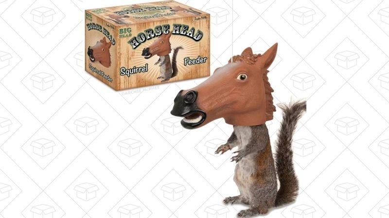 Comedero para ardillas en forma de cabeza de caballo, $10