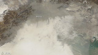 Illustration for article titled This is what China's record-level air pollution looks like from space