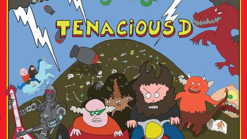 Illustration for article titled Tenacious D are promoting their new album with a hand-drawn, dick-and-puppy-filled cartoon