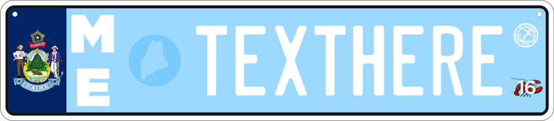 Illustration for article titled Reimagining US License Plates as Euro Plates - Installments 41-45 (ME, IA, ND, DE, FL)