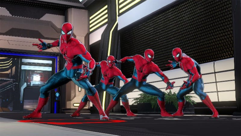 Illustration for article titled Glitch Allows 4 Spider-Mans In One Marvel Ultimate Alliance 3 Party [Update]