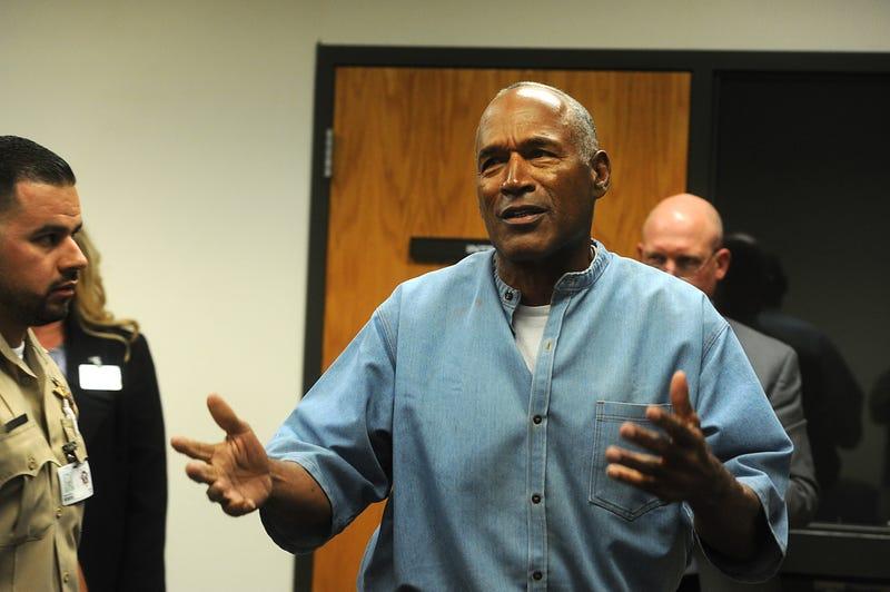 O.J. Simpson at his July 20. 2017, parole hearing (Jason Bean-Pool/Getty Images)