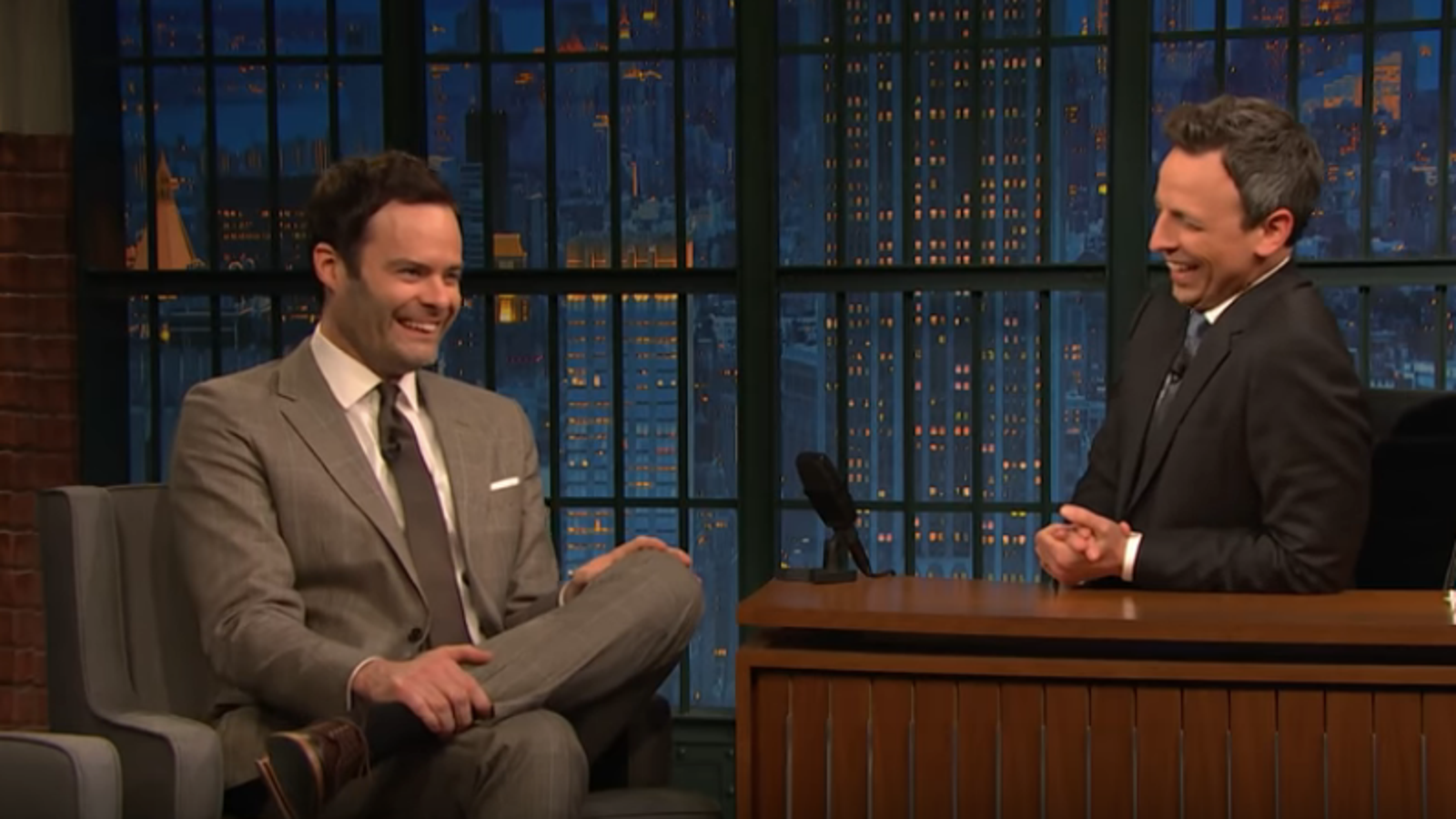 Bill Hader and Seth Meyers talk the Barry finale and getting loopy at 4 a.m. on SNL