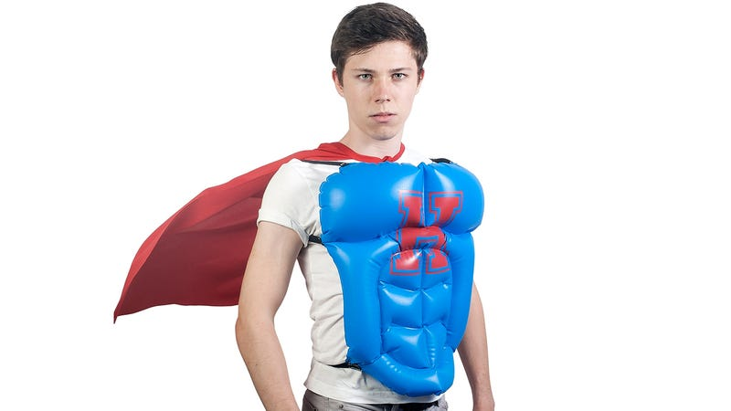 Illustration for article titled Inflatable Hero Vest Gives You the Abs You'll Never Get On Your Own