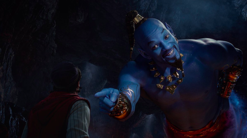 Illustration for article titled The New Aladdin Trailer Finally Shows Will Smith's Blue Genie in Action