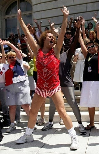 Illustration for article titled Richard Simmons Is Still At It