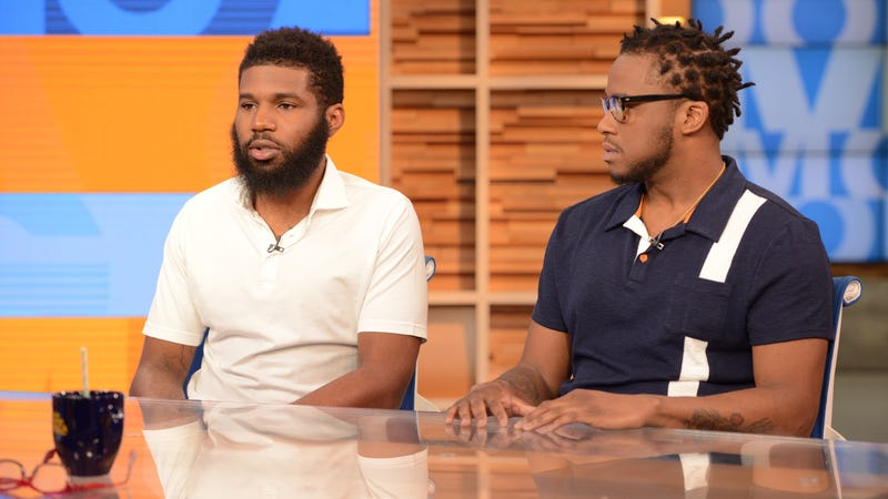 Rashon Nelson and Donte Robinson, the two men arrested at a Philadelphia Starbucks, tell their story on Good Morning America on April 19