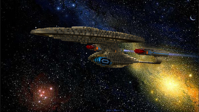 Illustration for article titled Everything on The USS Enterprise Can Be Explored In This Stunning Minecraft Replica
