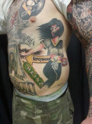 Illustration for article titled No Tattoos Have Ever Been More Pittsburgh Than This Guy's
