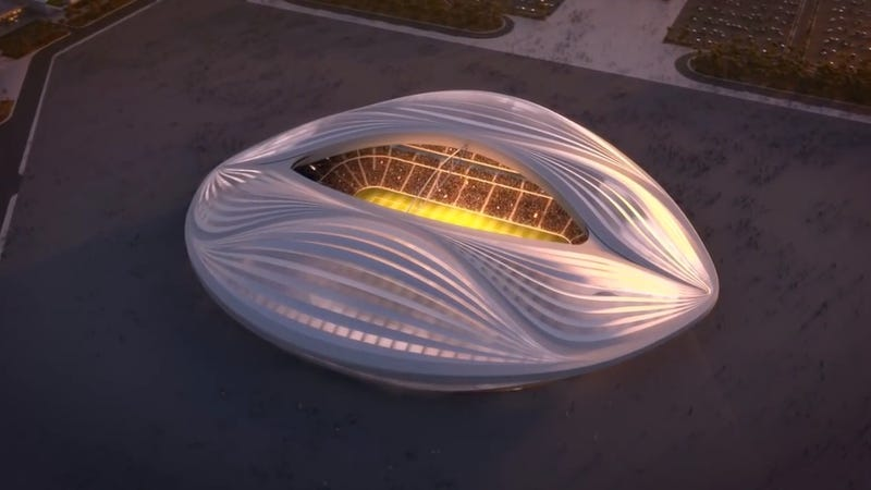 Illustration for article titled Qatar's New World Cup Stadium Will Look Like a Giant Vagina