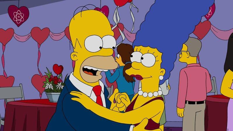Illustration for article titled Professor Frink solves love in a messy Simpsons valentine