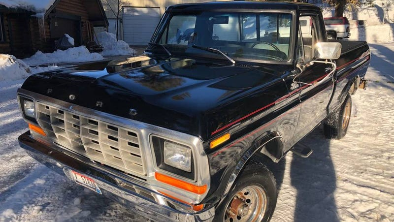 Illustration for article titled At $15,000, Could This 1979 Ford F150 4X4 Short-Bed Make Your Shortlist?
