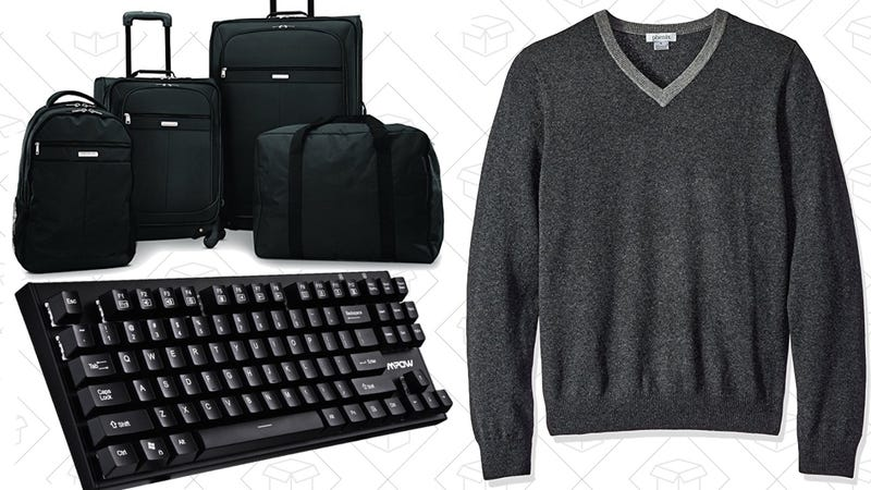 Illustration for article titled Today's Best Deals: Mechanical Keyboards, Affordable Luggage, Cashmere, and More