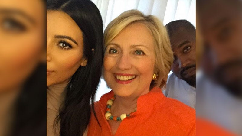 Illustration for article titled Kim Kardashian Thinks Hillary Clinton Should Be 'Presisent'