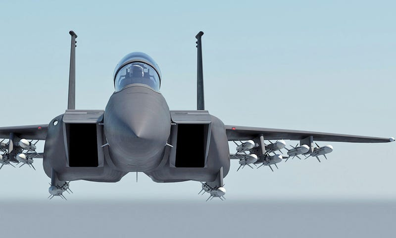 boeing touts new 16 air to air missile carrying f 15 eagle