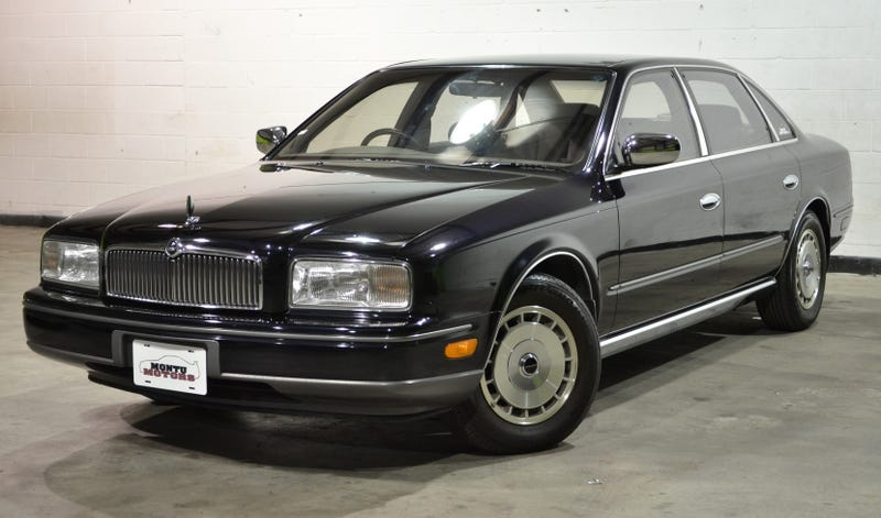 Illustration for article titled This Obscenely Luxurious 1990 Nissan President Sovereign Will Raise Your Status In Life