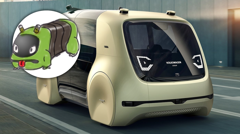 Illustration for article titled The Volkswagen Sedric Is An Autonomous Space Caterpillar That's Really Chill Inside