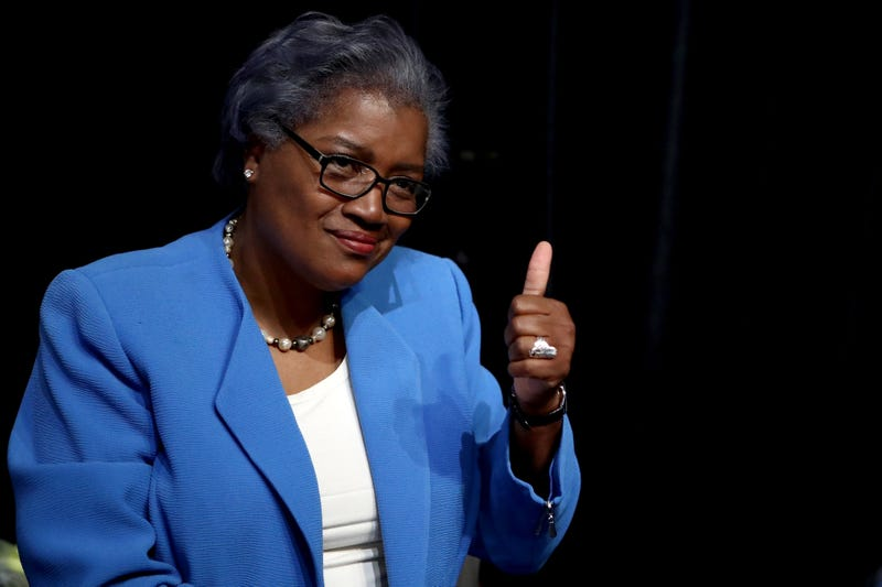 Donna Brazile gives a thumbs-up during the first day of the Democratic National Convention at the Wells Fargo Center in Philadelphia on July 25, 2016.Jessica Kourkounis/Getty Images