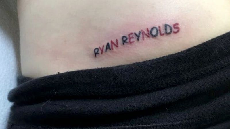 """Illustration for article titled Florida man gets """"Ryan Reynolds"""" tattooed on his butt just because"""