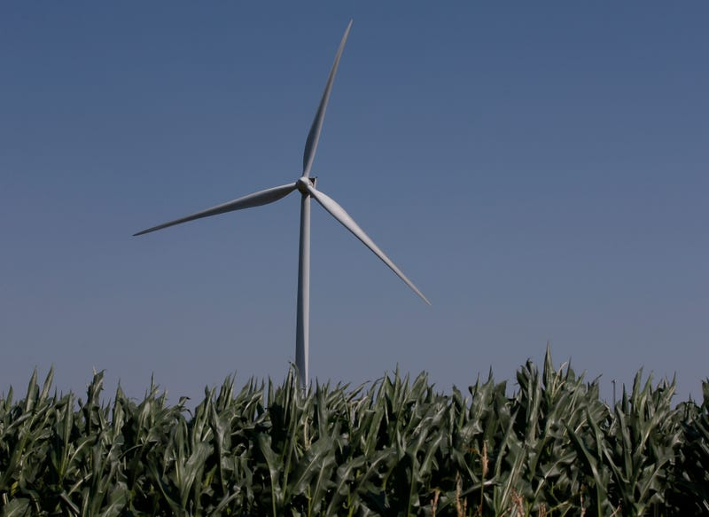 A wind turbine near El Reno, Okla. (AP Photo/Sue Ogrocki)