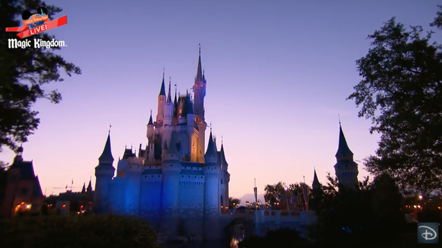 Disney is livestreaming the sunrise at magic kingdom and honestly disney is currently broadcasting a livestream of the sunrise at the magic kingdom theme park in florida i have no idea why disney is doing this fandeluxe Image collections