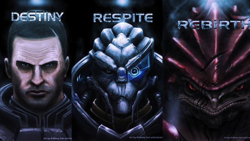 Illustration for article titled Mass Effect Portrait Art Is As Menacing As It Is Beautiful