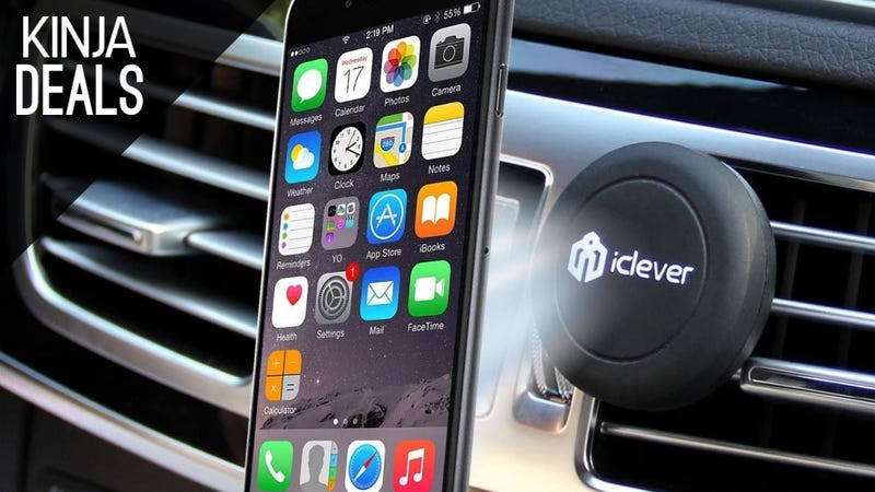 Illustration for article titled This Magnetic Smartphone Car Mount is Only $8 Today