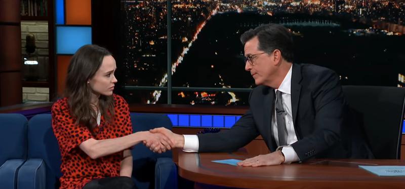 Ellen Page, Stephen Colbert