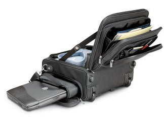 The Dual Access Rolling Bag Features A Laptop Sized Pocket On Its Top So When You Have Your D Under Seat In Front Of