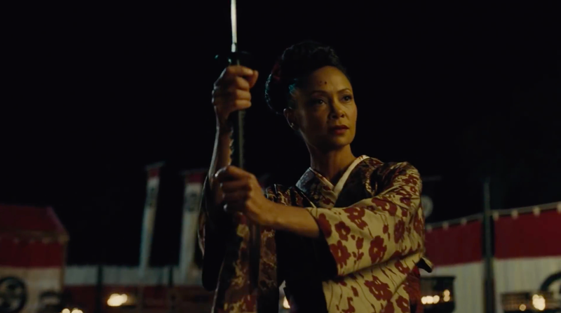 Thandie Newton as Maeve in Westworld.