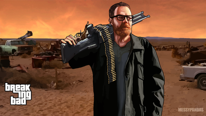 Illustration for article titled A Breaking Bad x Grand Theft Auto Crossover? Yes Please.