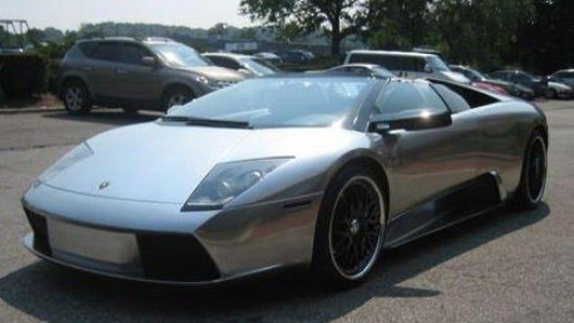 50-Cent's Chrome Lamborghini Murcielago for Sale on eBay