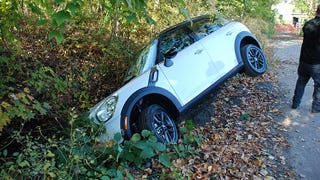 Illustration for article titled New Jersey Driver Crashes Mini On Pedestrian Path Mistaken For Road