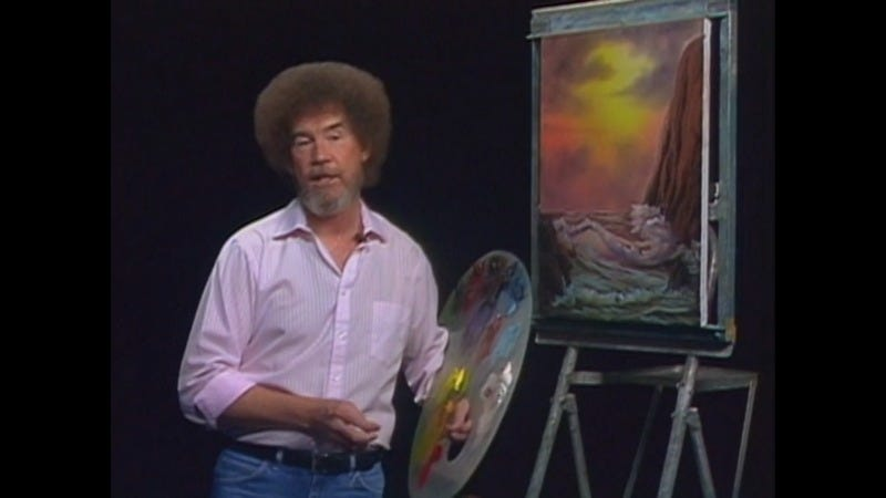 Illustration for article titled Soothe Yourself This Weekend Watching Bob Ross Paint, Thanks to Netflix