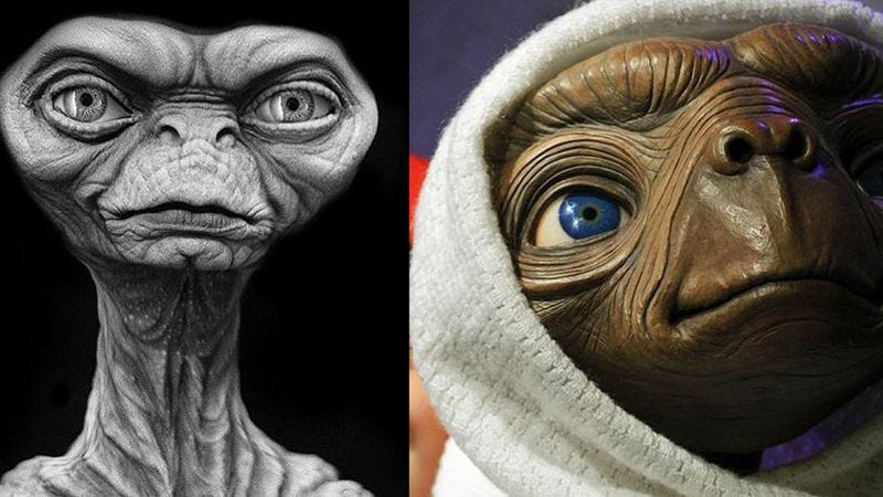 Illustration for article titled E.T. originally had lips—creepy, supple lips