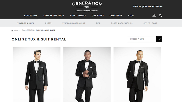 Generation Tux Makes Group Formalwear Rental for Men Easy