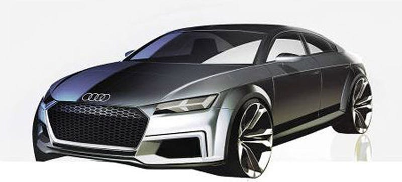 Illustration for article titled This Is What The Audi TT Sportback Concept Will Look Like