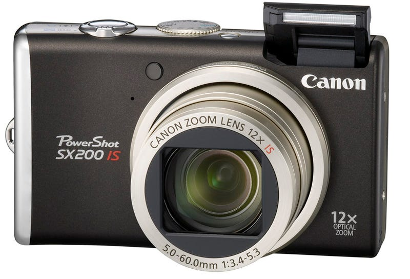 Illustration for article titled Canon SX200 Point-and-Shoot Looks Classy, Has 12x Zoom Wide-Angle Lens